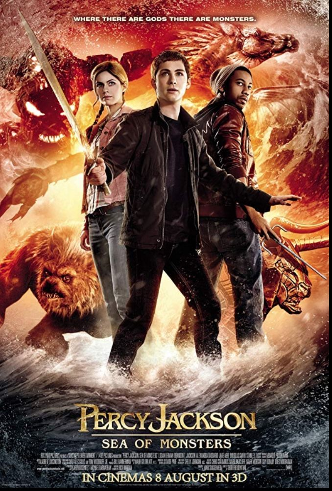 Percy Jackson Sea Of Monsters 2013 2nd And Last Movie Made Item By Imdb In 2020 Sea Of Monsters Cinema 8 Percy Jackson