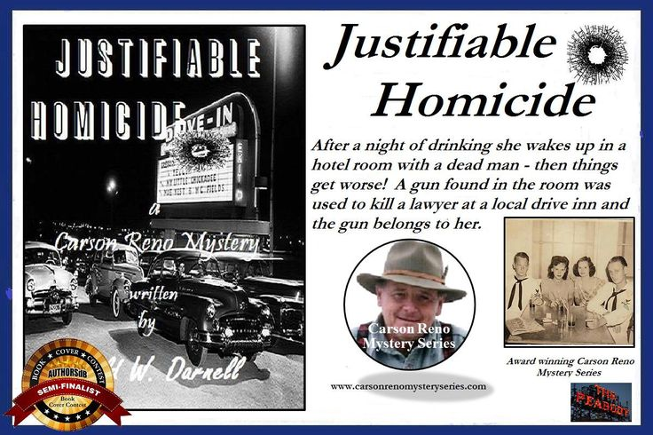 """""""I'm Hooked!"""" by Virginia Gray A 5-Star Review for """"Justifiable Homicide"""" (Carson Reno Mystery Series Book 12) by Gerald W. Darnell"""