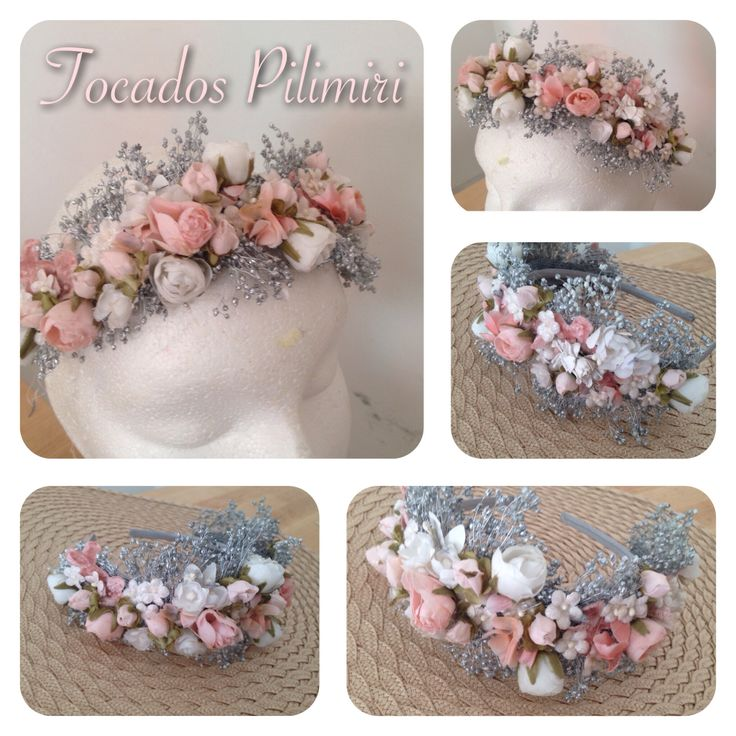 Corona de flores, ideal para novias o invitadas