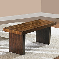 @Overstock - A perfect addition to almost any casual dining space is the Farnham Collection. This bench is highlighted with a warm brown finish on the sturdy wood-framed Bench seating.http://www.overstock.com/Home-Garden/Farnham-48-inch-Long-Bench/6626286/product.html?CID=214117 $199.99
