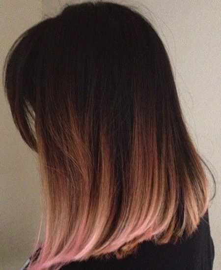 Pink Hair Color Ombre Bob Long Bob Hair Lob Goes Pink