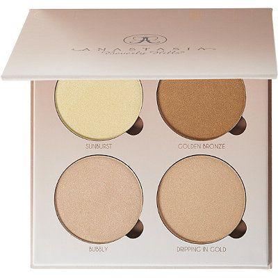 Anastasia Beverly Hills Glow Kit That Glow. The ultimate highlighter for the girl who craves a flawless gleam. Housed in chic compacts, Glow Kits feature an eviable wardrobe of four metallic powders that give your complexion an intense luminosity.