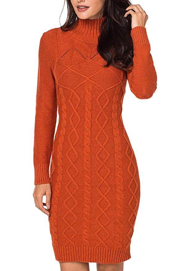 52465625b53 Pink Queen Women Winter Slim Fit Knit Sweater Bodycon Mini Dress  Long  Sleeve Dresses Winter