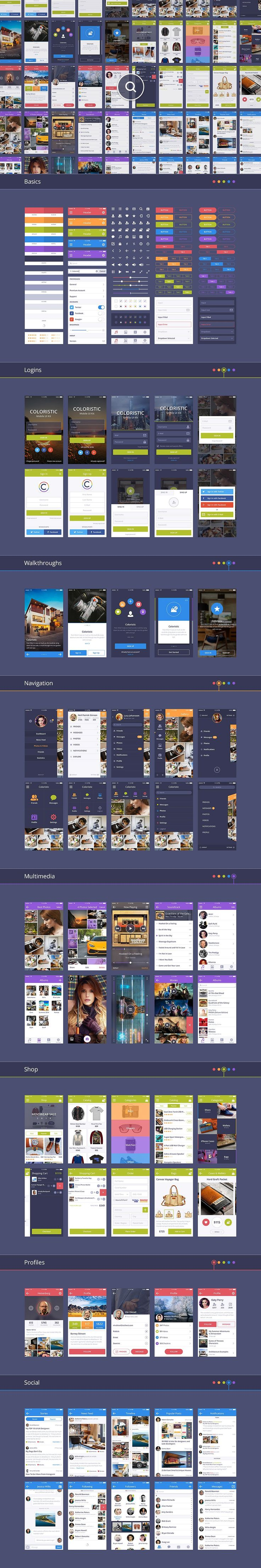 Coloristic UI Kit by UI Chest on @creativemarket