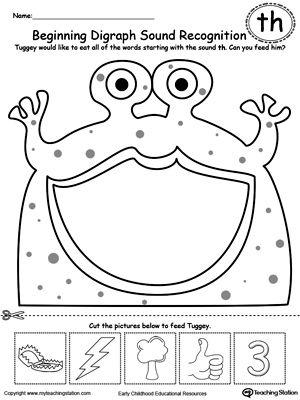 Th Worksheets For Kindergarten Printable Phonics Workbook And