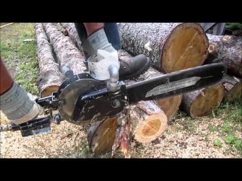 ▶ 2006 Quasiturbine (2 bar - 30 psi) Zero-Vibration Chainsaw - YouTube
