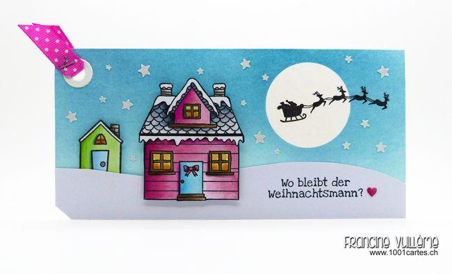 1001 cartes: Christmas Tags 2014 – Where is Santa Claus?