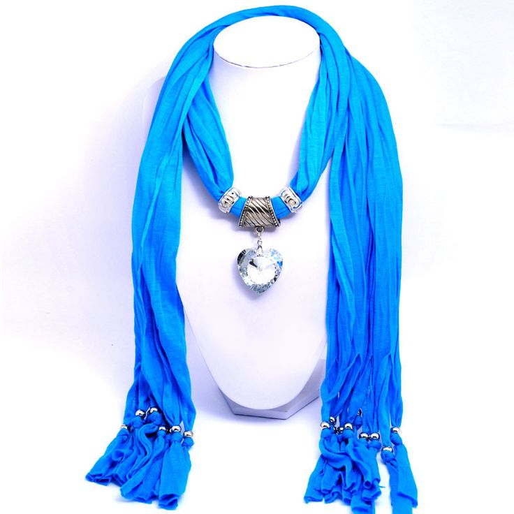 Beora Blue Scarf Heart Pendant Necklace just Rs. 1,049.00 only.!! @ Trendymela.com  #Online #Fashion #Jewellery, #Bracelets, #Earrings, #Necklaces