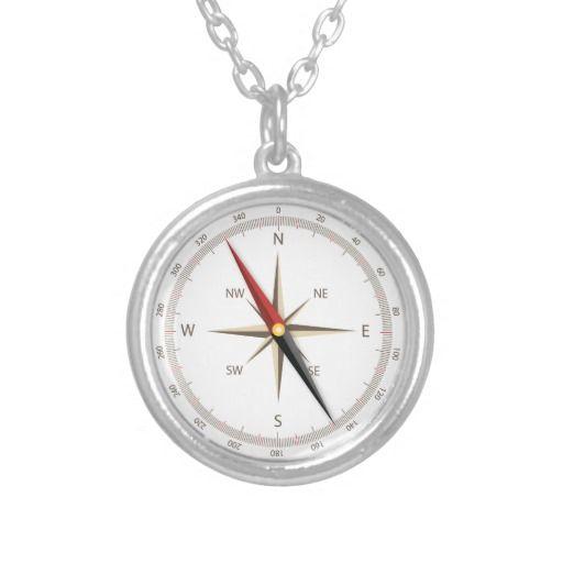 Classic compass-look pendant