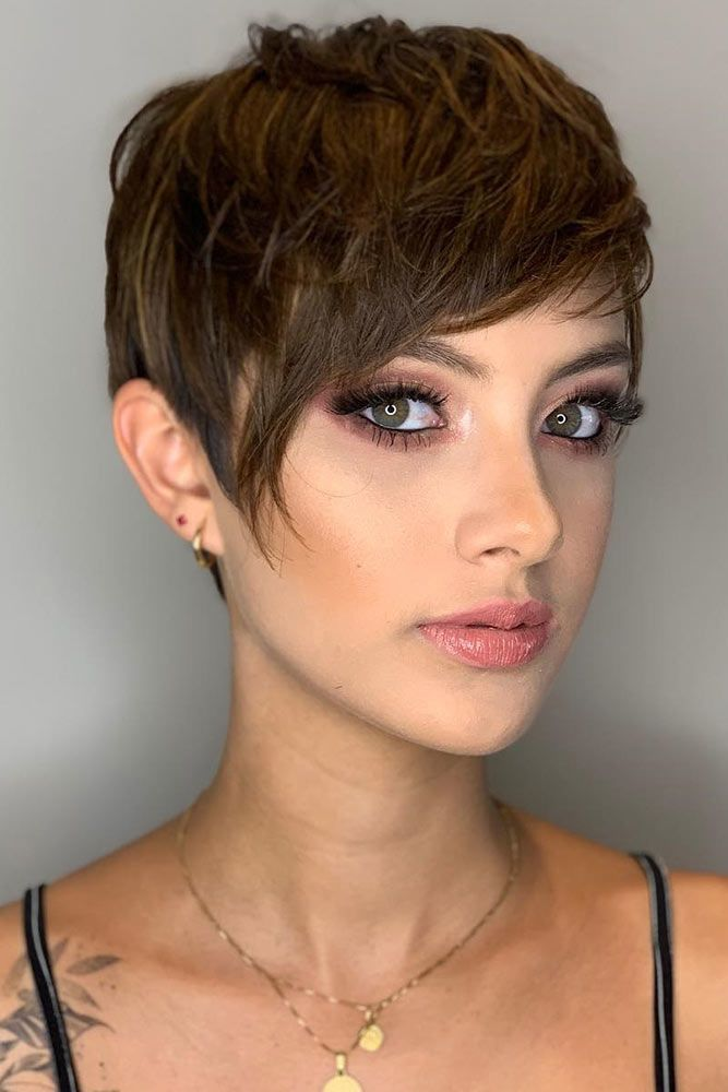 Cute Short Haircut Ideas #pixie #layeredhair #bangs ★ Are you searching for cute short hair cuts that will flatter your …