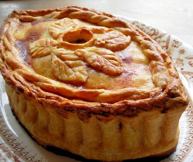 Great Old English Posh Picnic Raised Chicken and Ham Pie