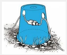 Here is a simple idea for keeping your electrical cord off the ground and out of the rain!  http://www.eldoradorv.com/