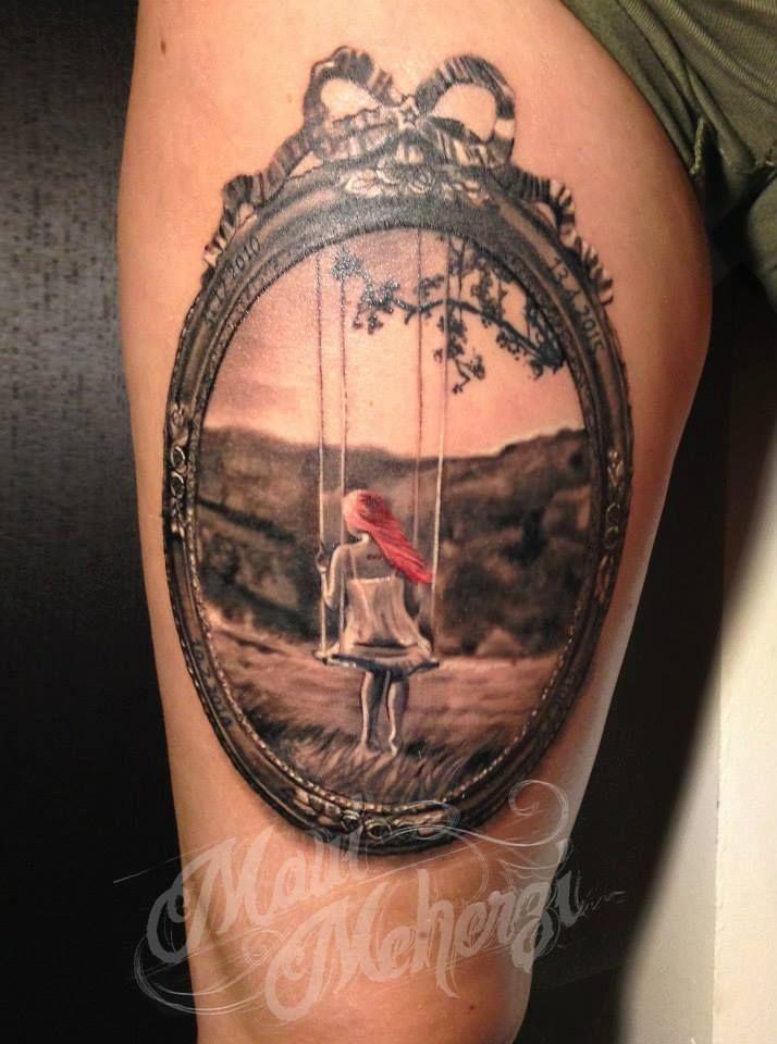 Maui Meherzi - Opus Magnum Tattoo Studio Wien - Bilderrahmen 3D Tattoo                                                                                                                                                                                 Mehr