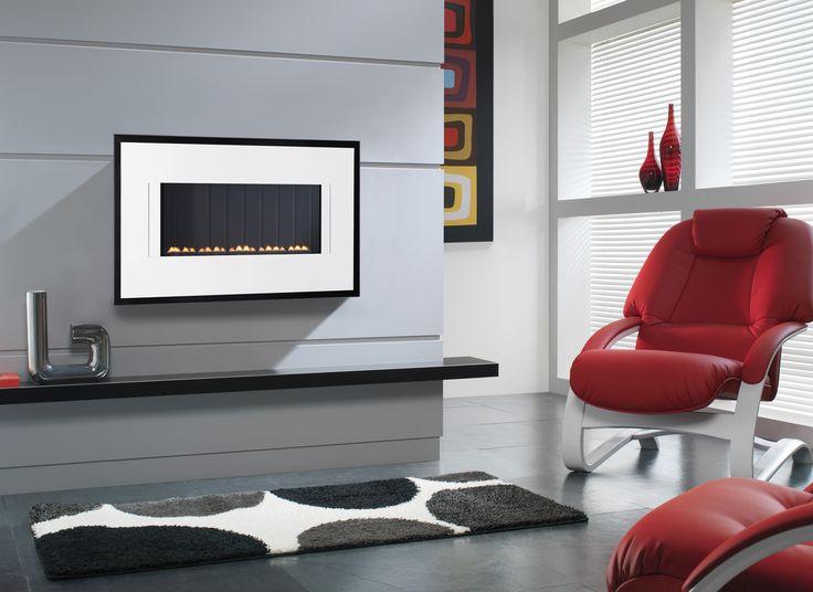 Meridiana Wall Mounted Flueless Gas Fire Fireplace ModernFlueless FiresLiving Room