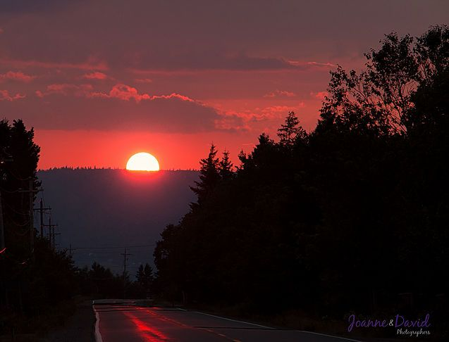 Sunset Over Economy Mountain  Joanne Bouley & David Maxwell - Wedding Photographers Truro NS