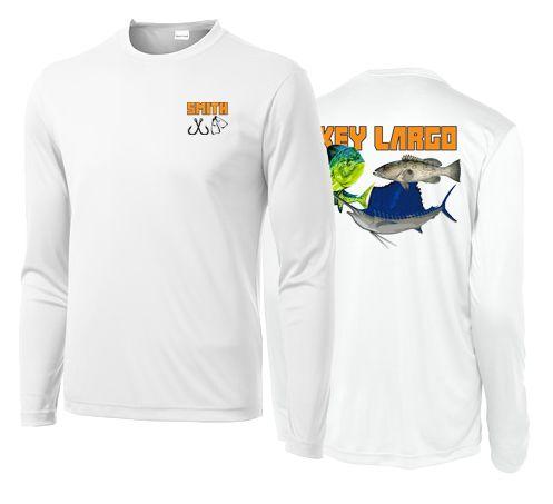 Jim Smith has his new custom UPF50 fishing shirts
