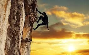 Amazing rock climbing