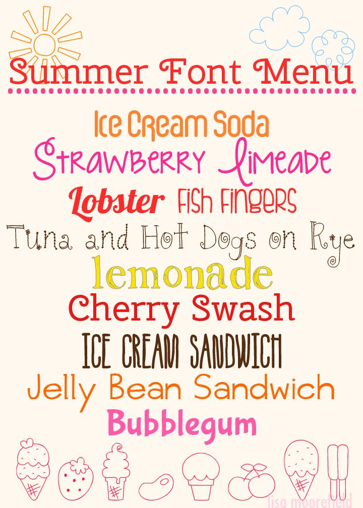 fonts for summer - Google Search