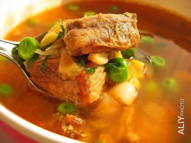 Фасолевый суп по-балкански : Первые блюда
