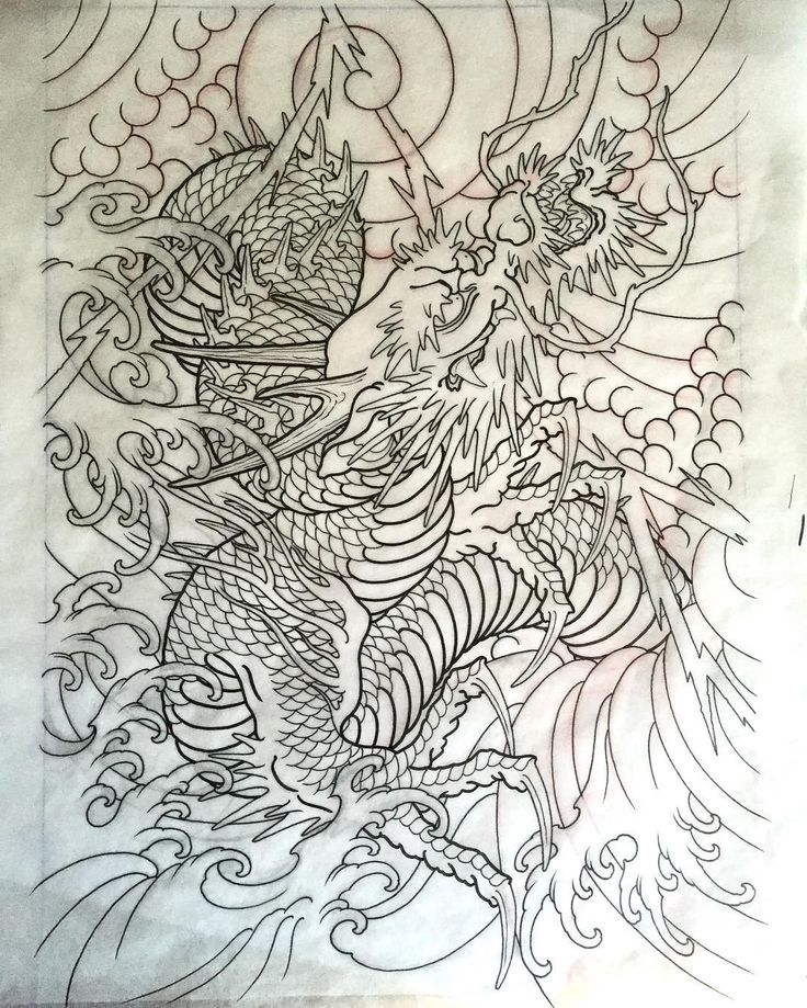 1000 ideas about lighthouse tattoos on pinterest tattoos palm tattoos and traditional - Dessin dragon japonais ...