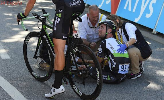 Mark Cavendish abandona el Tour por lesión