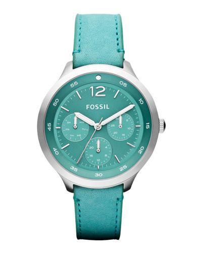 Fossil Editor Leather Watch I WANT THIS SOOOOOOO BAD!