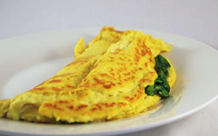 Spinazie omelet met feta en griekse kruiden