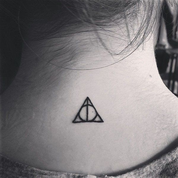 Cute tiny tattoo ideas for girls - deathly hallows