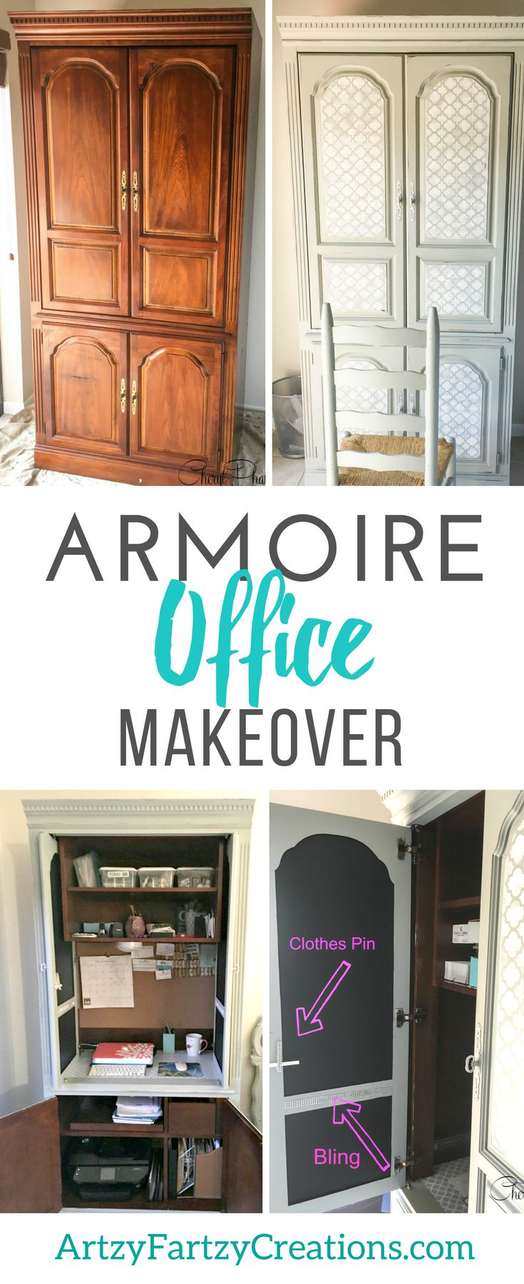 Office space tps report quote - A Great Space Saver Office In An Armoire By Cheryl Phan Office Organization Ideas