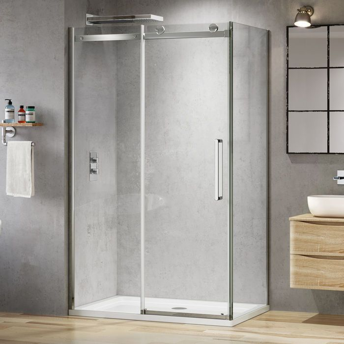 1000x800mm 8mm Designer Frameless Easyclean Sliding Door Shower Enclosure Shower Doors Shower Enclosure Sliding Shower Door