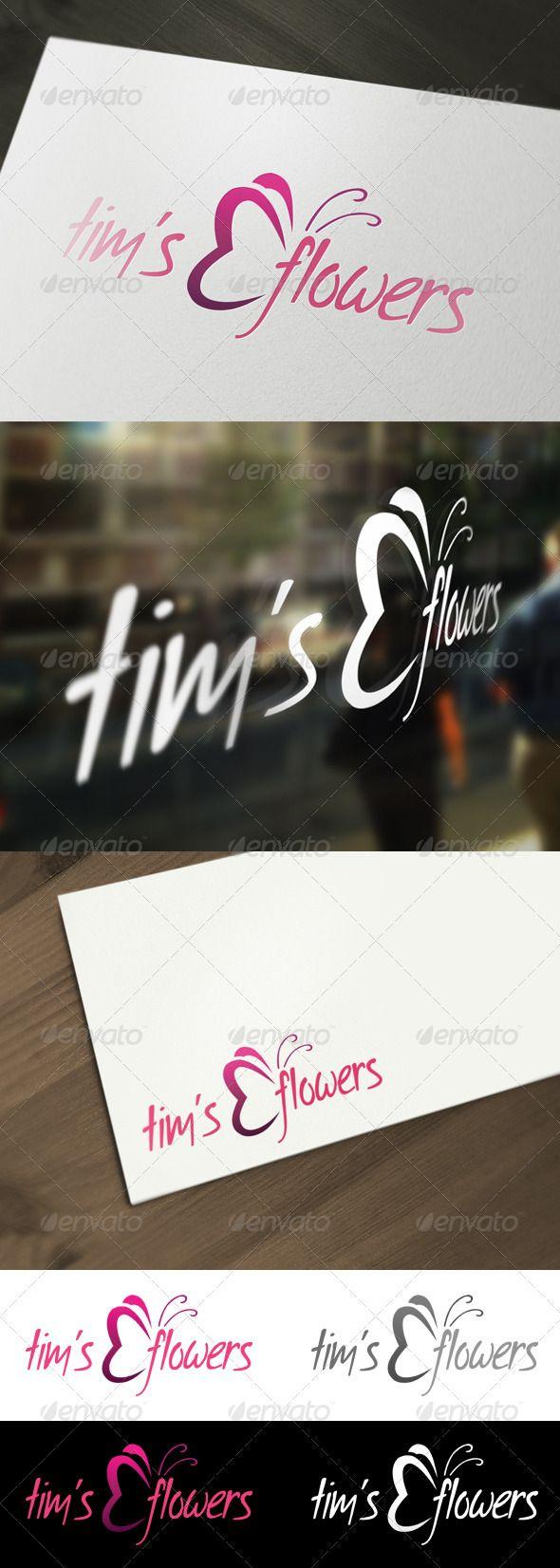 Flower  Florist Logo Template — Photoshop PSD #purple #PSD logo • Available here → https://graphicriver.net/item/flower-florist-logo-template/2072069?ref=pxcr