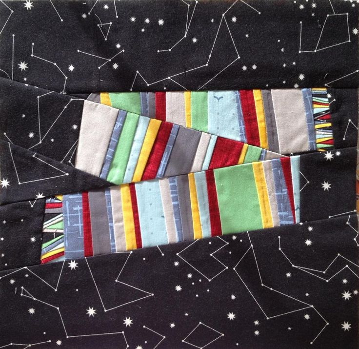 Scarf Block 11 of Doctor Who Quilt Along free paper piecing pattern on Craftsy at http://www.craftsy.com/pattern/quilting/home-decor/doctor-who-along-block-11-scarf/70837