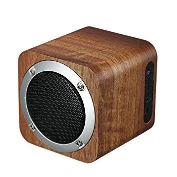ILEPO i7 - Altavoz de Madera 5W BT4.0 Bluetooth Soporte TF-Card Play, radio FM