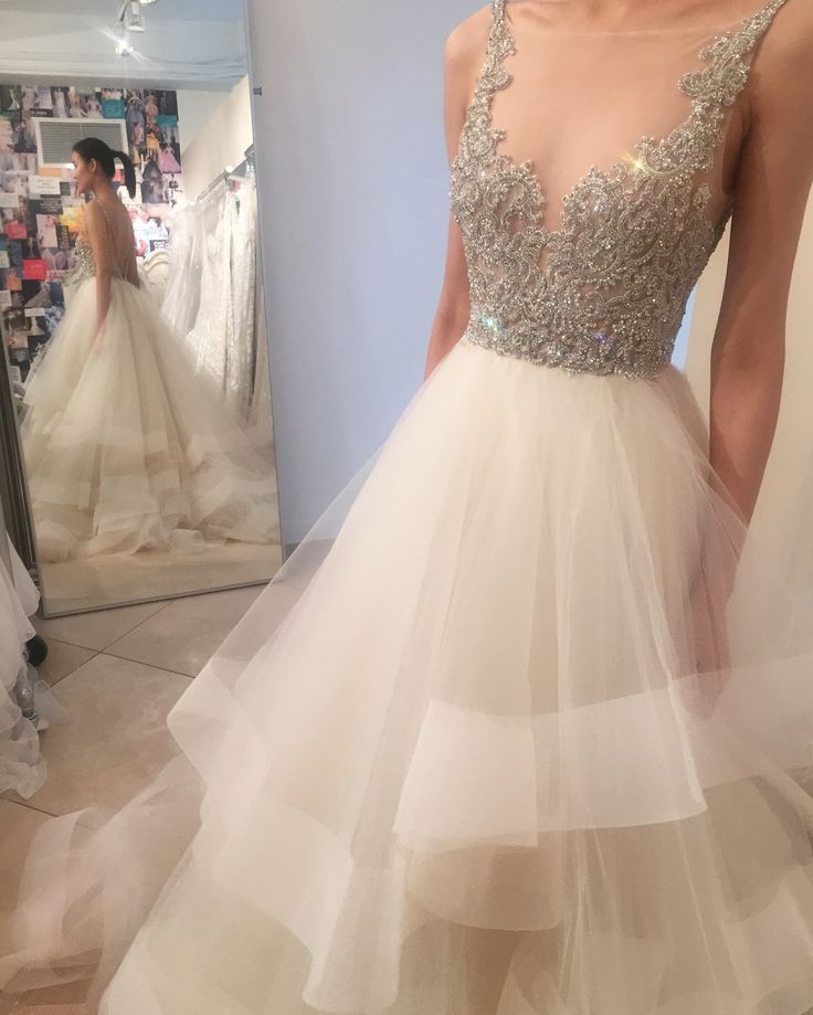 Lazaro wedding dress with Swarovski crystals / Style 3708 by LAZARO. Available at Spring 2017 trunk shows!!