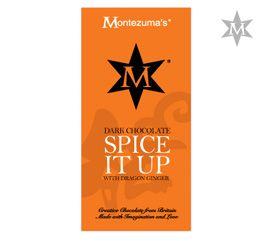Tableta de Ciocolata Spice It Up #montezumas #ciocolata #ciocolataneagra #ghimbir #dulciuri #cadouri #ideicadouri