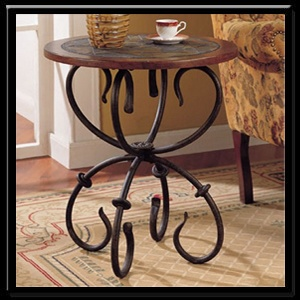 Blacksmith End Table. Wrought Iron Garden ...