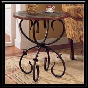 Blacksmith end table