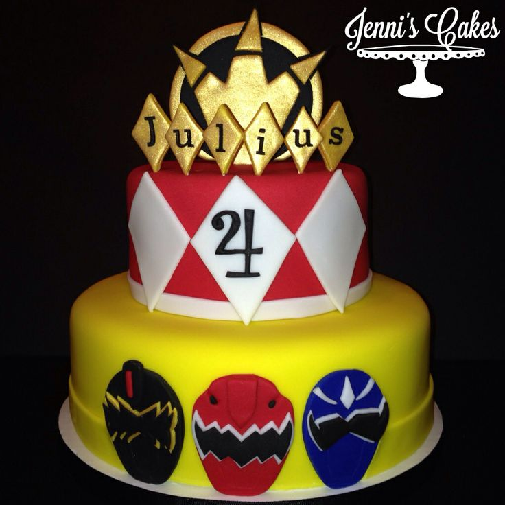 Power Ranger Birthday Cake With Pictures