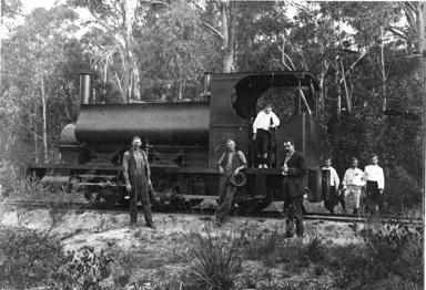 Small locomotive used on the Joadja to Mittagong Rail Line Circa 1890