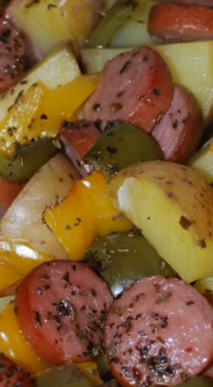 Smoked Sausage and Potato Bake ~ Simple, easy and Delicious!