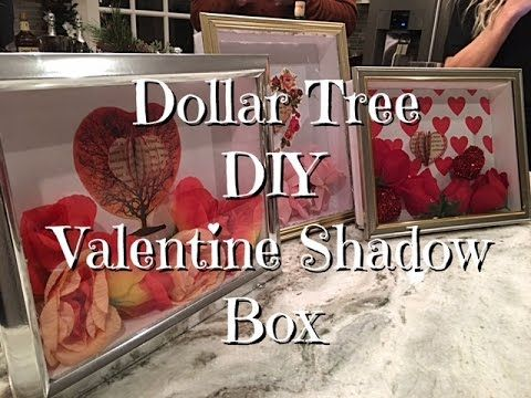 shadow box made from dollar tree foam board and picture frame-DIY Dollar Tree Valentines Shadow Box How-to
