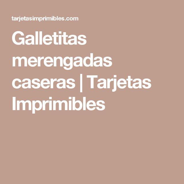 Galletitas merengadas caseras | Tarjetas Imprimibles