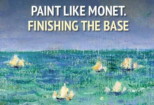 """Micro-course """"Paint Like Monet. Finishing the Base"""" by David Cross https://coursmos.com/course/paint-like-monet-finishing-the-base #Hobbies & Crafts @coursmos"""