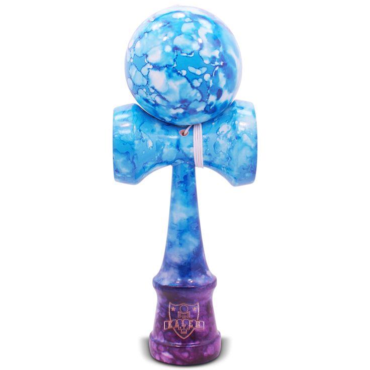 Purple & Blue Marble Kendama - Full