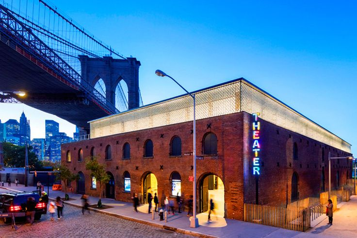 This Brooklyn Theater Renovation Shows You Don't Have to Choose Between Heritage and Sustainability, The exterior view of St. Ann's Warehouse theater. Image Courtesy of Charcoalblue