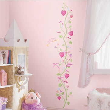 Girls' Fairy Princess Growth Chart - contemporary - kids decor - One Step Ahead