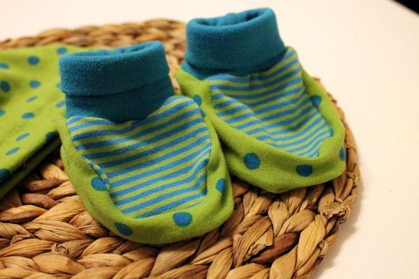Babyschuhe - mit Link zur kostenlosen Nähanleitung