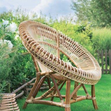 Chaise en rotin osier rotin bambou pinterest for Chaise osier tresse