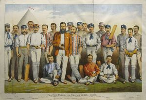 Famous English Cricketers - 1880.