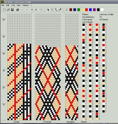 Beading patterns and projects with a Burberry motif #heartbeadwork